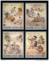 North Korea 2007 Mih. 5277/80 Korean Famous Paintings MNH ** - Korea (Nord-)