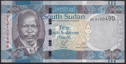 South Sudan 10 Pound 2011 P7 UNC - Sudán Del Sur