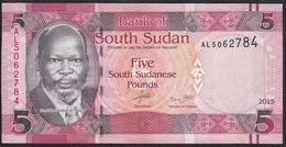 South Sudan 5 Pound 2015 Pnew UNC - Soudan Du Sud