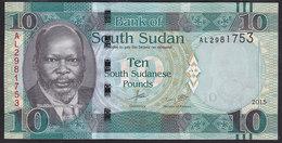 South Sudan 10 Pound 2015 Pnew UNC - Soudan Du Sud