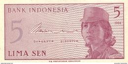 INDONESIA 5 SEN 1964 P-91 UNC  [ID544a] - Indonesia