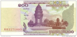 CAMBODIA 100 RIELS 2001 P-53a UNC [KH416a] - Cambodia
