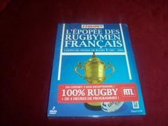 L'EPOPEE DES RUGBYMEN FRANCAIS   1987 / 2003   DOUBLE DVD  NEUF SOUS CELOPHANE - Sports
