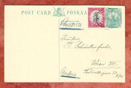 P Springbock + ZF, Evaton Transvaal Nach Wien 1937 (40395) - Storia Postale