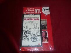 BD JAZZ  ° LE JAZZ DE CABU   1 CD 20 TITRES + 1 BD ILLUSTREE PAR CABU + 1 BIOGRAPHIE DES ARTISTES PAR LES AMIS DE CABU - Jazz