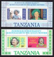 Tanzania, Scott #269a, 270a, Mint Never Hinged, Queen Elizabeth II, Issued 1985 - Tanzanie (1964-...)