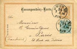 Entier Postal De 1896 Sur CP - Oblit. 7.3.96 - Interi Postali