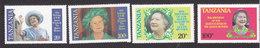 Tanzania, Scott #267-270, Mint Hinged, Queen Elizabeth II, Issued 1985 - Tanzania (1964-...)