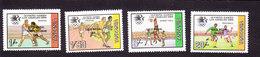 Tanzania, Scott #275-278, Mint Hinged, Olympics Overprinted, Issued 1985 - Tanzanie (1964-...)