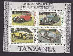 Tanzania, Scott #266a, Mint Never Hinged, Cars, Issued 1985 - Tanzania (1964-...)