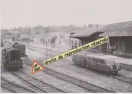 """Autorails Verney """"Mamers-St-Calais"""" En Gare De Mamers (72) - - Bahnhöfe Mit Zügen"""