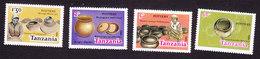 Tanzania, Scott #279-282, Mint Hinged, Pottery, Issued 1985 - Tanzania (1964-...)