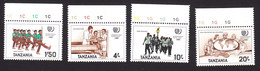 Tanzania, Scott #290-293, Mint Never Hinged, Int'l Youth Year, Issued 1986 - Tanzania (1964-...)