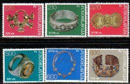 6 Different Antique Jewelry In Yugoslav Museums, Yuglslavia Stamp SC#1235-1240 MNH Set - 1945-1992 République Fédérative Populaire De Yougoslavie