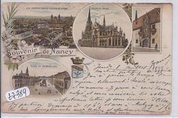 NANCY- SOUVENIR DE NANCY--RARE LITHO ECRITE EN 1897 - Nancy