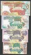 SEYCHELLES SET 10 + 25+50 +100 RUPEES 1989 Pik- 32 33 34 35 UNC - Seychellen