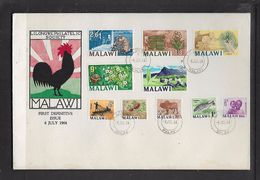 Malawi 1st Definitive Issue 1/2d - 2s6d, First Day Cover - Malawi (1964-...)