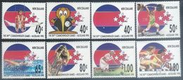 NZ 1989   Sc#970-7  Commonwealth Games Set   MNH** 2016 Scott Value $6.10 - New Zealand
