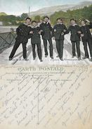 CPA.  MILITARIA.  La Vie Du Marin. Joyeux Permissionnaires.   ..G339 - Scene & Paesaggi