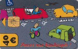 # Carte De Stationnement Pariscarte 0927 Handicapes 40 Euros - Verso 14 -tres Bon Etat - - Parkkarten