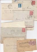 """LOT 6 DOC.: BANDE JOURNAL """"LE JOURNAL DE L'ENGRAIS"""" LILLE PAIRE 2c BLANC. 5 LETTRES ( 2 AVEC CORRES.) THIERS MONTLUCON F - Postmark Collection (Covers)"""