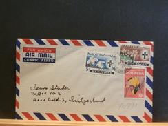 70791    LETTRE MALAYSIA  TO SWITZERLAND - Malesia (1964-...)