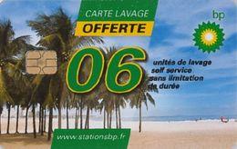 # Carte A Puce Portemonnaie Lavage BP - Palmiers - 6u - Tres Bon Etat - - Frankrijk