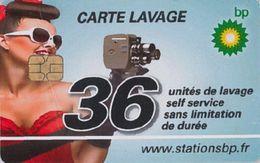 # Carte A Puce Portemonnaie  Lavage BP - Camera - 36u - Recto Bon Etat / Verso Etat Moyen  - - Frankrijk