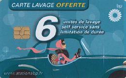 # Carte A Puce Portemonnaie  Lavage BP - Conductrice - Bleu - 6u - Tres Bon Etat - - Autowäsche