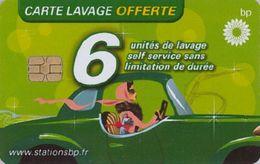 # Carte A Puce Portemonnaie  Lavage BP - Conductrice - Verte - 6u - Puce1 - Tres Bon Etat - - Frankrijk