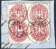 Nr. 16 - 2 Paare Briefstück Vollstempel BERLIN - Preussen