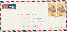 Kenya Air Mail Cover Sent To Switzerland - Kenia (1963-...)