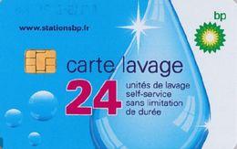 # Carte A Puce Portemonnaie  Lavage BP - Goutte - 24u Puce1? - Tres Bon Etat - - Frankrijk