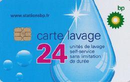 # Carte A Puce Portemonnaie  Lavage BP - Goutte - 24u Puce2? - Tres Bon Etat - - Frankrijk