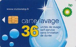 # Carte A Puce Portemonnaie  Lavage BP - Goutte - 36u Puce1? - Tres Bon Etat - - Frankrijk