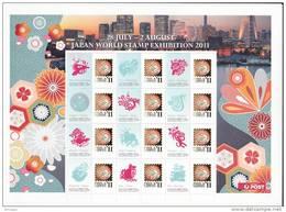 Christmas Island 2011 Japan World Stamp Exhibition Sheetlet MNH - Christmas Island