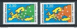FRANCE 1990 . Service N°s 104 Et 105 . Neufs **  (MNH) - Nuovi