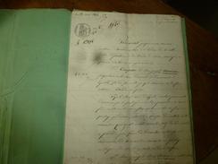1844 Important ACTE Notarié  Par Joseph Armieux  DONATION ENTRE VIFS Sur Papier Filigrane Et Cachet Sec + Cachet Mouillé - Manuscrits
