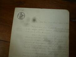 1836 ACTE Notarié  Par Joseph Armieux  DONATION ENTRE VIFS Sur Papier Filigrane Et Cachet Sec + Cachet Mouillé - Manuscrits