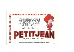 Buvard Conserves Petitjean - Buvards, Protège-cahiers Illustrés