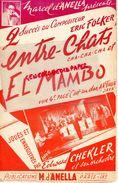 PARTITION MUSICALE- ENTRE CHATS -ERIK FOLKER- EL MAMBO EDWARD CHEKLER-  D' ANELLA RUE ST LAZARE PARIS-C'EST UN DUR - Partitions Musicales Anciennes