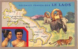 ¤¤  -  LAOS   -  Colonie Française -  Carte Publicitaire Des Produits Du Lion Noir   -  Illustrateur  -  ¤¤ - Laos