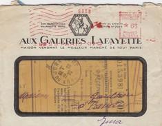 AUX GALERIES LAFAYETTE. LETTRE EMA 19 11 1937. + COUPONS ET BONS DE CAISSE - Werbung