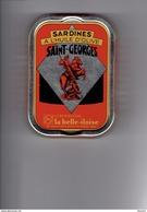 Boîte Sardines Millésimées 2011 - SAINT-GEORGES - La Belle-iloise - Statue Homme Sur Cheval Dragon - 1/6 - Altre Collezioni