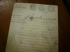 1827 ACTE De VENTE Comte D'HAUBERSART Pair De France, Son épouse Brigitte MERLIN Demeurant à Paris 37 Rue St-Lazare;etc - Manoscritti
