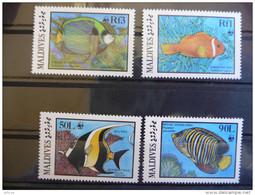 WWF  Maldives Fishes Fische Vissen Poisson Mi 1198-01  1986 MNH 4v Stamps - W.W.F.