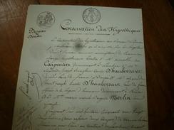 1827 ACTE Notarié Comte D'HAUBERSART Pair De France, Son épouse Brigitte MERLIN Concerne Aimable CARPENTIER;etc - Manoscritti
