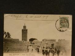 70/822   CP MAROC  1908 POUR LA TUNESIE - Morocco (1891-1956)