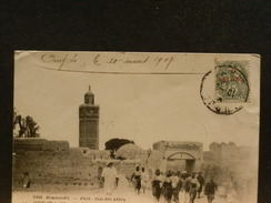 70/822   CP MAROC  1908 POUR LA TUNESIE - Marruecos (1891-1956)