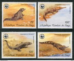 WWF Congo Crocodile Krokodile 1987 4 V MNH - Unused Stamps